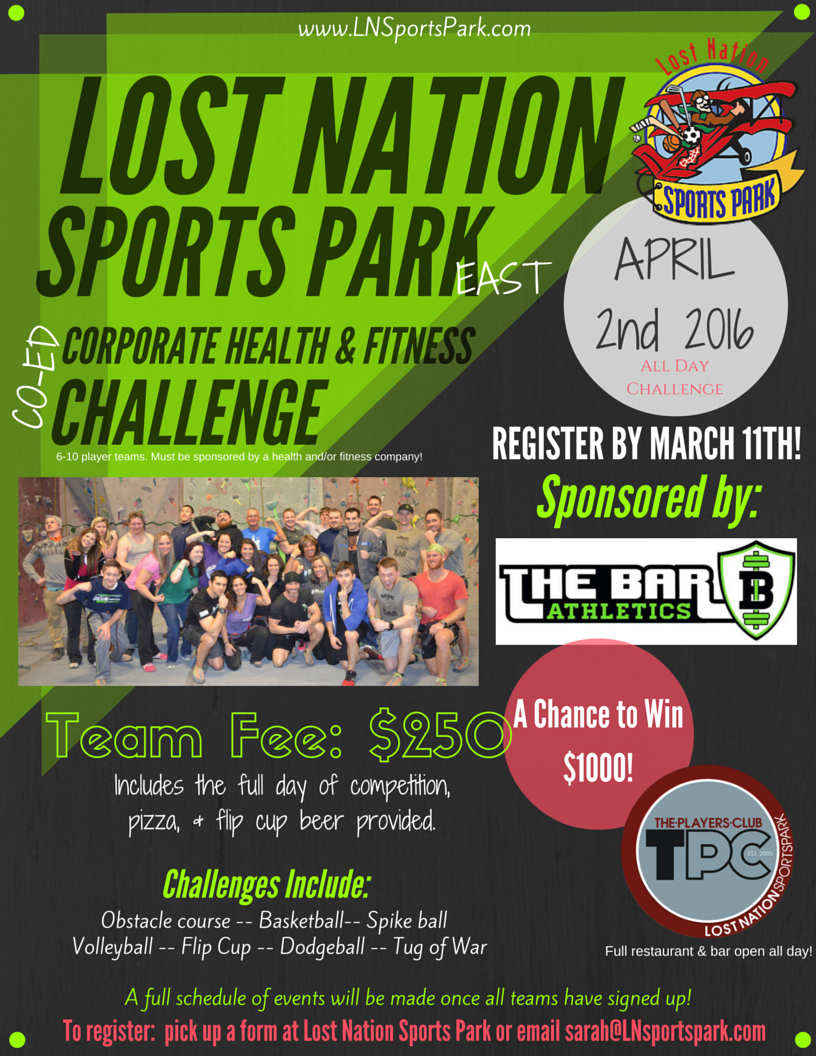 Corporate Health & Fitness Challenge - Lost Nation Sports Park