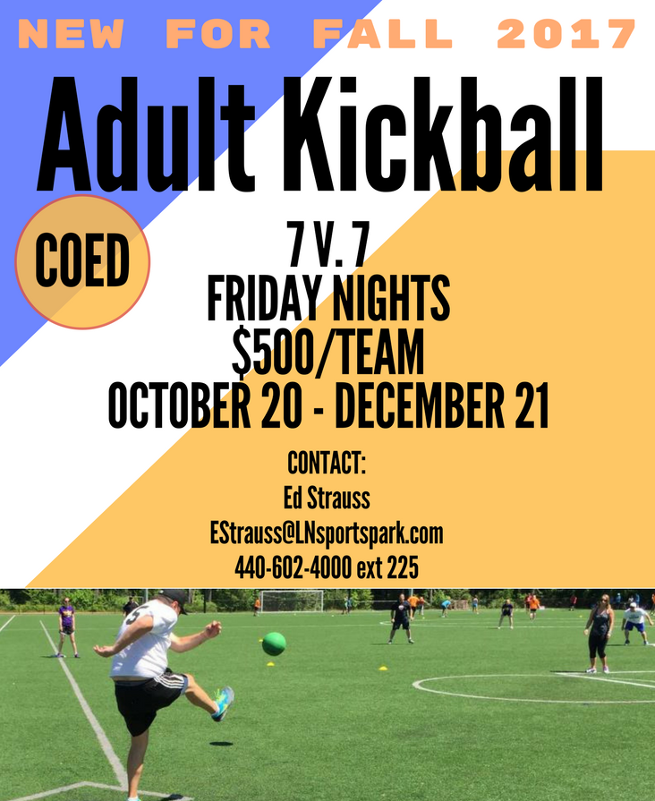 COED ADULT KICKBALL COMING FALL 2017 (Willoughby) - Lost