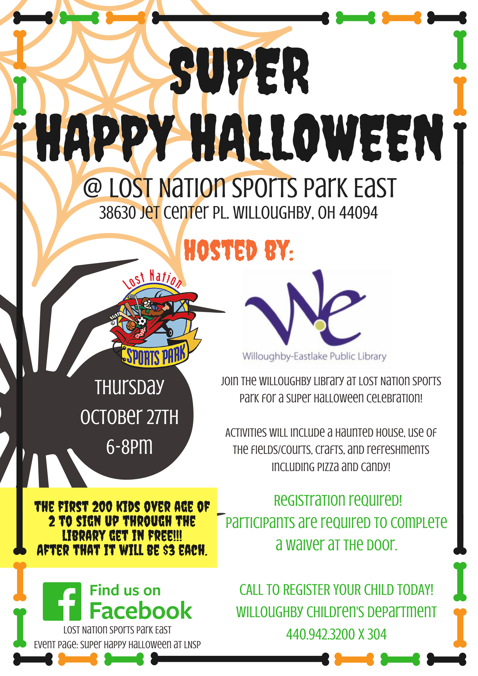 Super Happy Halloween Party - October 27th - Lost Nation Sports Park ad023d7e200c